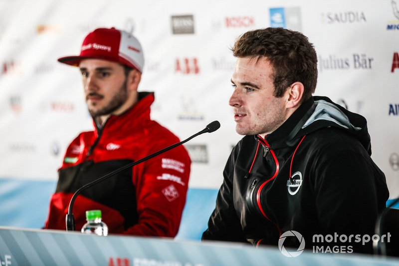 Oliver Rowland, Nissan e.Dams, in the press conference