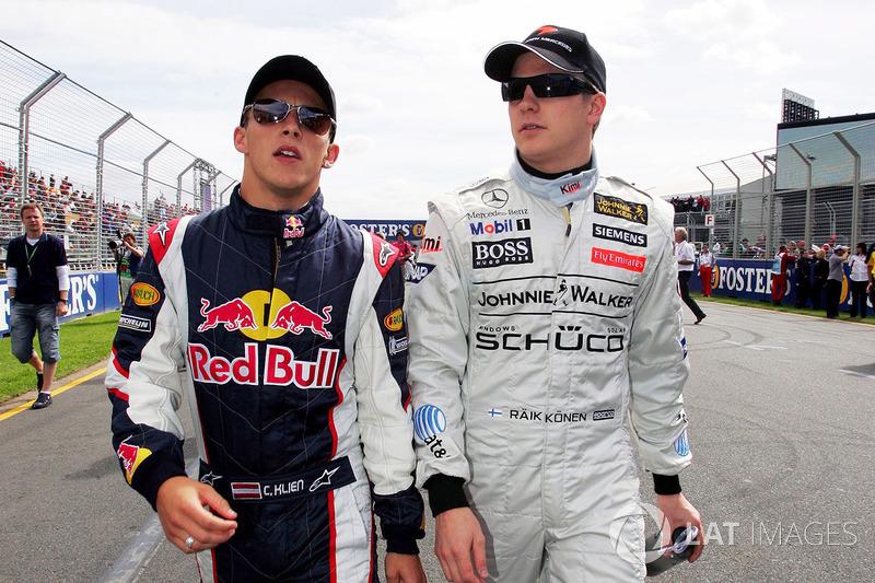Christian Klien, Red Bull Racing y Kimi Raikkonen, McLaren