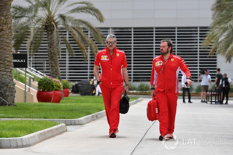 Maurizio Arrivabene, Ferrari Team Principal et Gino Rosato, Ferrari