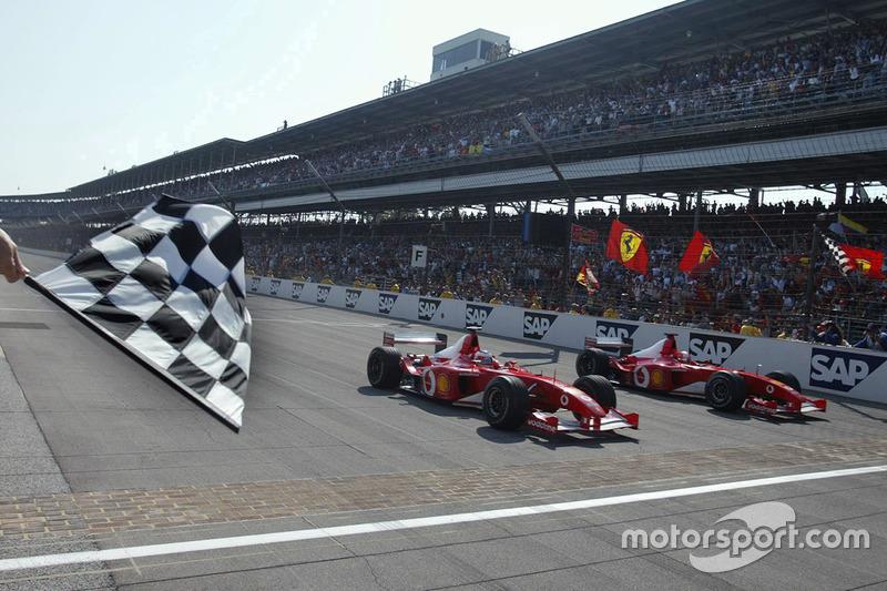 Indianapolis 2002, Michael Schumacher and Rubens Barrichello, Ferrari