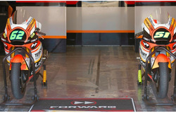 Le Kalex 2017 del Forward Racing Team per Stefano Manzi e Eric Granado