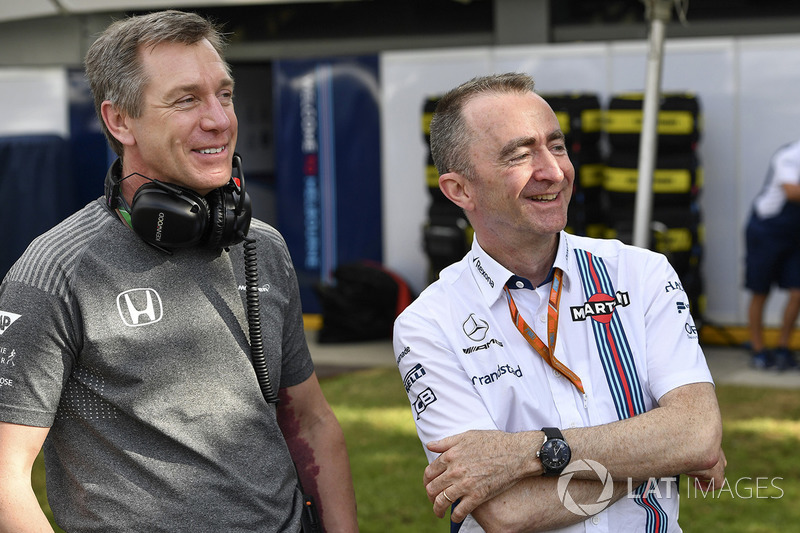 Tim Goss, McLaren Technical Director, Paddy Lowe, Williams Shareholder and Technical Director