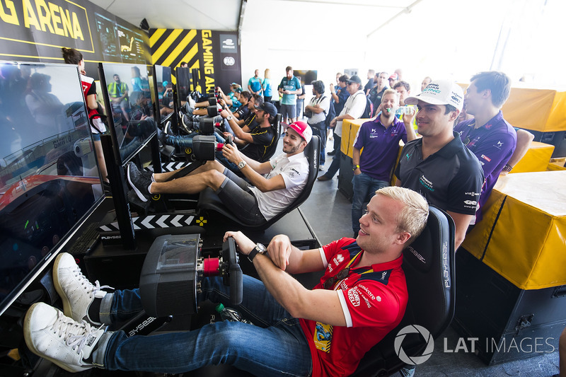 Felix Rosenqvist, Mahindra Racing, Nelson Piquet Jr., Jaguar Racing, Daniel Abt, Audi Sport ABT Schaeffler