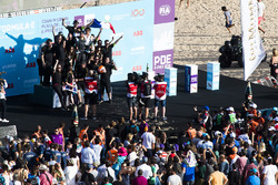 Podio: ganador de la carrera Jean-Eric Vergne, Techeetah