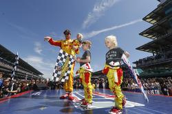 Ryan Hunter-Reay, Andretti Autosport Honda et ses enfants Ryden, Rocsen et Rhodes