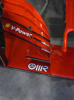 تفاصيل الجناح الأمامي لسيارة فيراري اس.اف71اتش