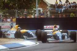Alain Prost, Williams FW15C y Damon Hill, Williams FW15C