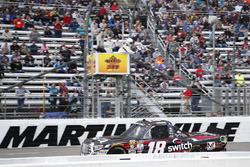 Noah Gragson, Kyle Busch Motorsports Toyota takes the checkered flag