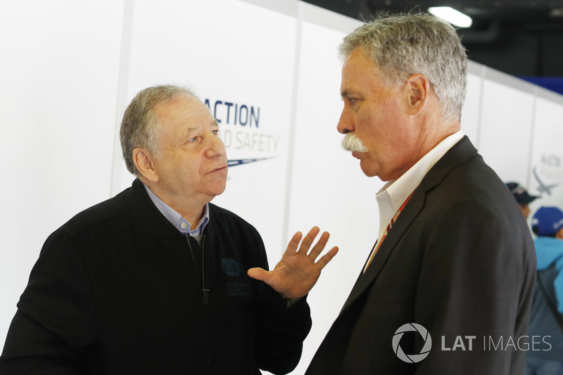 Jean Todt, Presiden FIA, Chase Carey, Chairman, Formula One