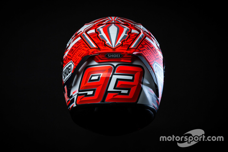 Marc Marquez voorstelling helm