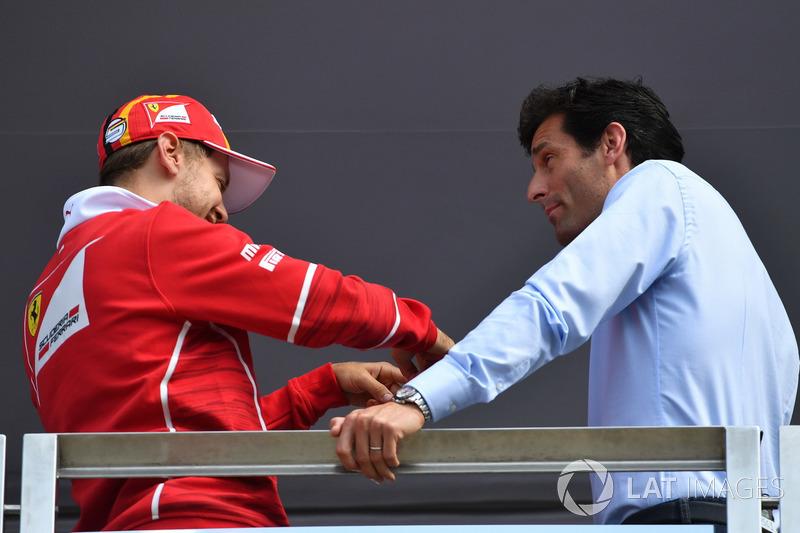 Sebastian Vettel, Ferrari, Mark Webber