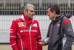 Maurizio Arrivabene, Ferrari Team Principal;Guenther Steiner, Team Principal, Haas F1 Team