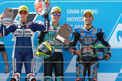 Podium: race winner Joan Mir, Leopard Racing, second place Fabio Di Giannantonio, Del Conca Gresini Racing Moto3, third place Enea Bastianini, Estrella Galicia 0,0