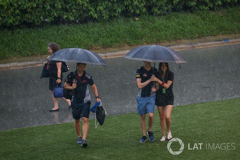 Daniil Kvyat, Scuderia Toro Rosso y su novia Kelly Piquet