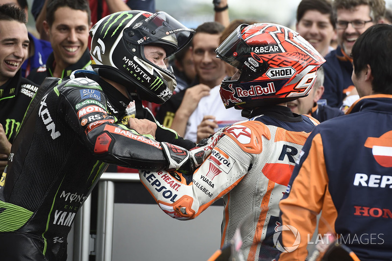 1. Marc Marquez, Repsol Honda Team, 2. Jonas Folger, Monster Yamaha Tech 3