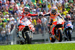 Andrea Dovizioso, Ducati Team, et Dani Pedrosa, Repsol Honda Team