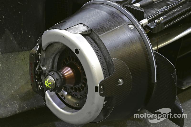 Les freins de la #8 Audi Sport Team Joest Audi R18