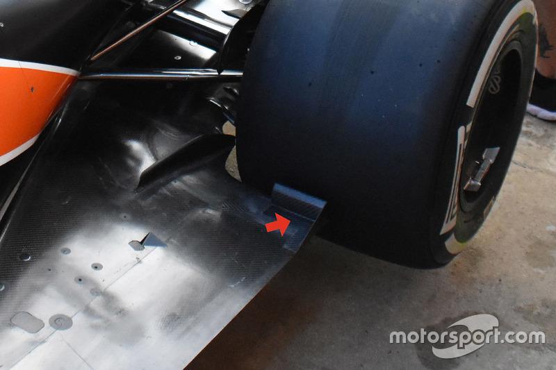 McLaren MCL32, днище