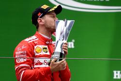 Podium: 2. Sebastian Vettel, Ferrari