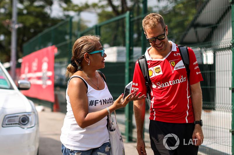 Себастьян Феттель, Ferrari, уболівальниця