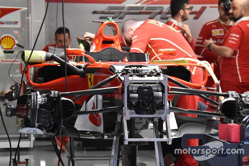 Передня частина Ferrari SF70H