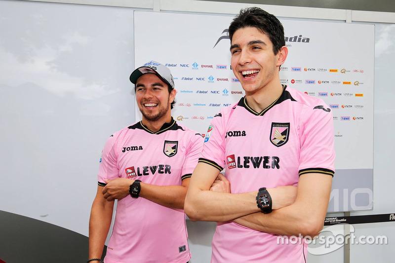Sergio Pérez, Sahara Force India F1, Esteban Ocon, Sahara Force India F1