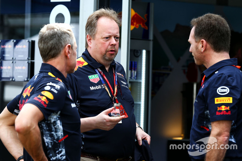 Christian Horner mit Jonathan Wheatley, Red Bull Racing
