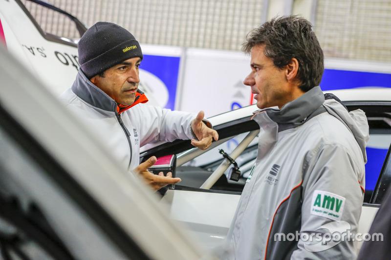 Jordi Gené y Álex Crivillé en los 500km de Alcañiz