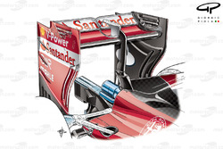 Ferrari SF16-H rear wing (low downforce)