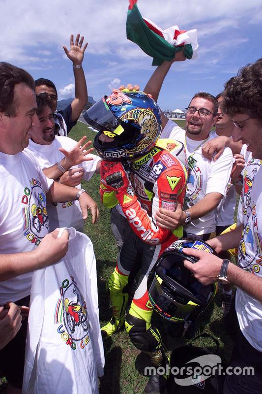 Ganador de la carrera Valentino Rossi, Aprilia