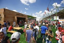 The Johnnie Walker bar in the fan village