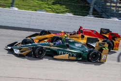 Josef Newgarden, Ed Carpenter Racing Chevrolet, Ryan Hunter-Reay, Andretti Autosport Honda