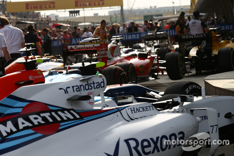 Cars after the race in parc ferme