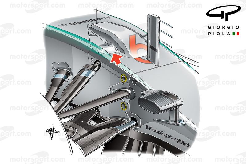 Design Frontaufhägungsschacht, Mercedes W06
