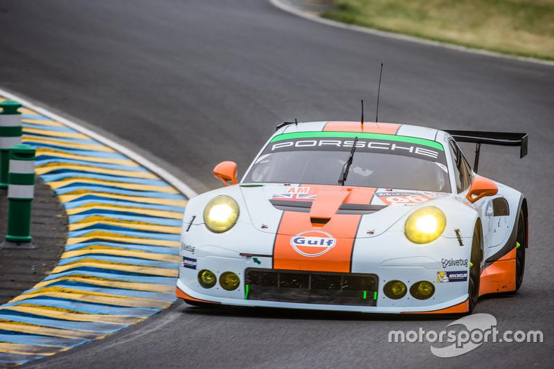 51: #86Gulf Racing Porsche 911 RSR: Michael Wainwright, Adam Carroll, Ben Barker