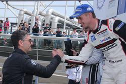 Cairoli sul podio di gara 1 della Carrera Cup Italia a Monza