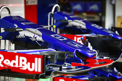 Front wings and nose cones belonging to the Toro Rosso STR13 cars