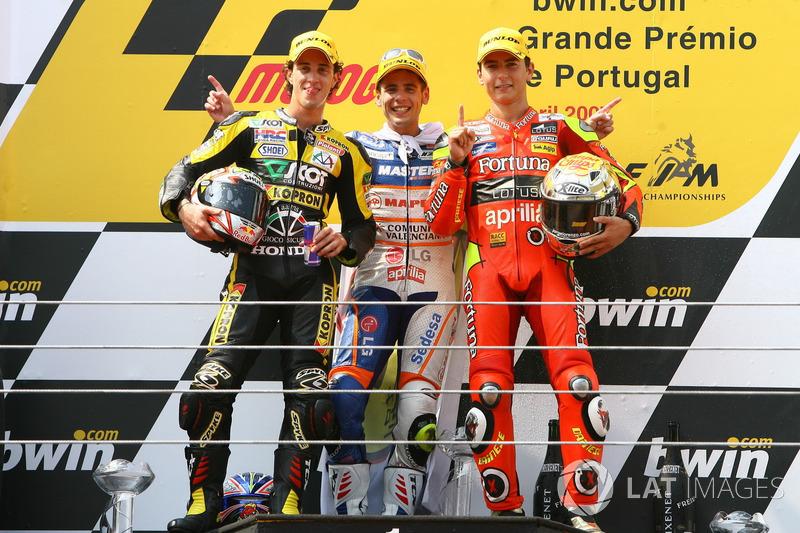 Podium: Andrea Dovizioso, Álvaro Bautista, Jorge Lorenzo
