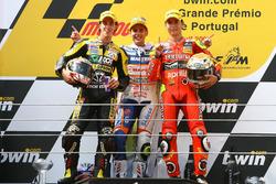 Podio: Andrea Dovizioso, Álvaro Bautista, Jorge Lorenzo