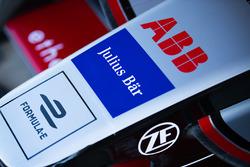 ABB, Jullus Bar, Formule E logos on the nose of the car of Maro Engel, Venturi Formula E