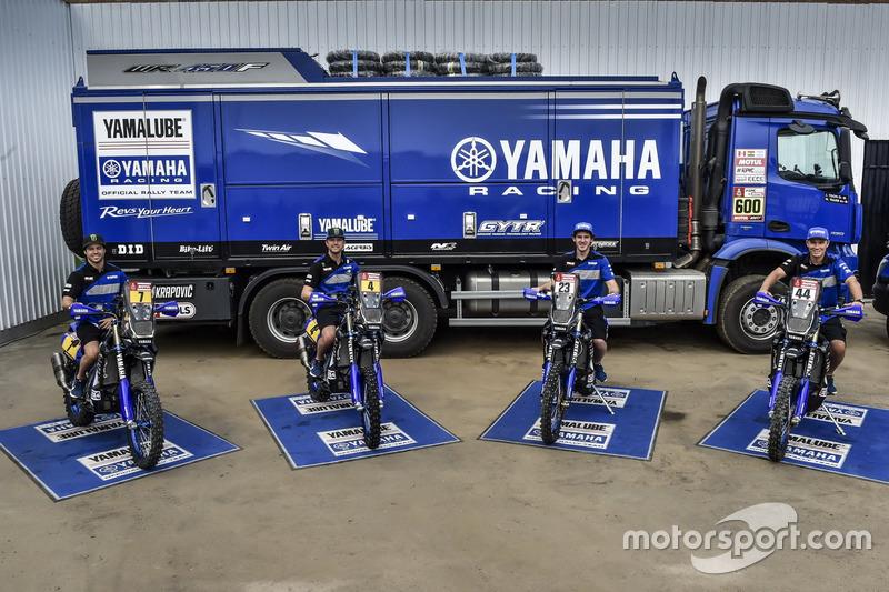 #7 Yamaha Official Rally Team: Franco Caimi, #4 Yamaha Official Rally Team: Adrien van Beveren, #23 Yamaha Official Rally Team: Xavier De Soultrait, #44 Yamaha Official Rally Team: Rodney Faggotter