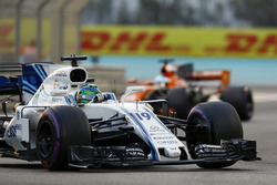 Felipe Massa, Williams FW40 leads Fernando Alonso, McLaren MCL32
