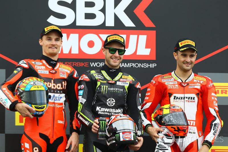 Le podium de la Course 1