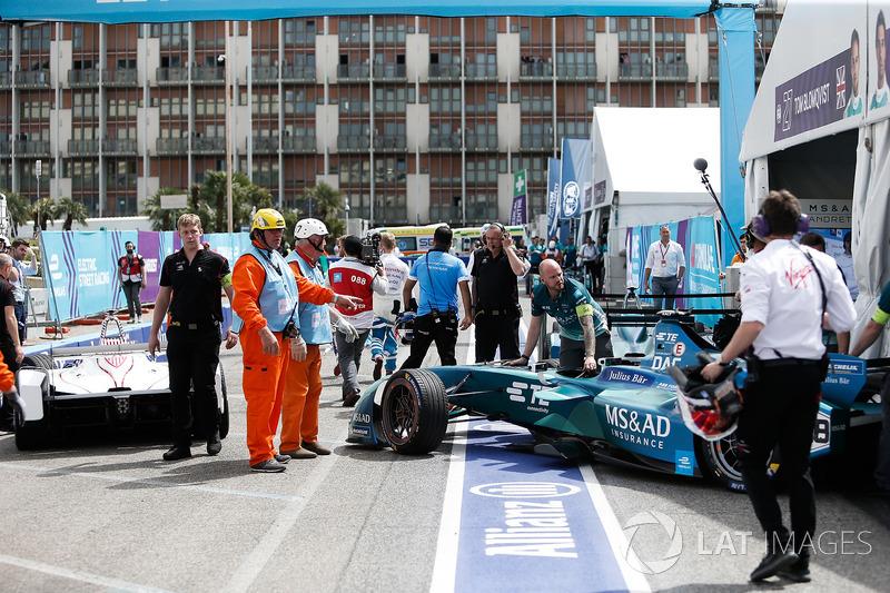 Antonio Felix da Costa, Andretti Formula E Team, choca con Jose Maria Lopez, Dragon Racing