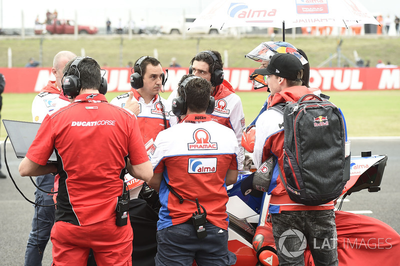 Jack Miller, Pramac Racing, waiting on the grid