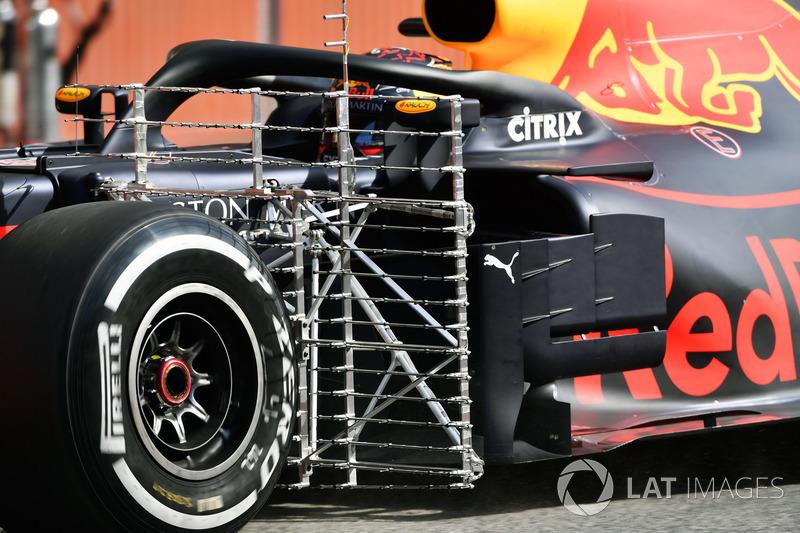Max Verstappen, Red Bull Racing RB14 aero sensors