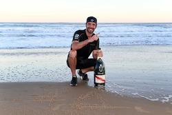 Jean-Eric Vergne, Techeetah, celebra en la playa