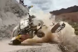 Accidente de Carlos Sainz, Peugeot 3008 DKR (Captura de pantalla)