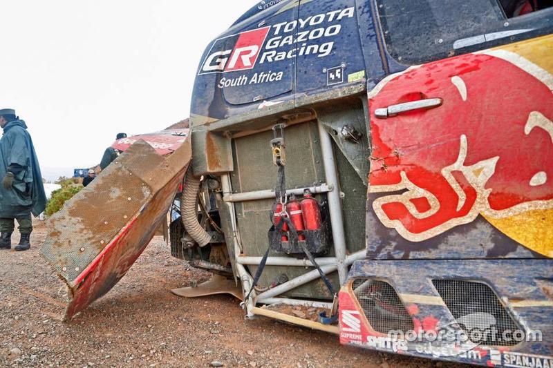#301 Toyota Gazoo Racing, Toyota: Nasser Al-Attiyah, Matthieu Baumel después del accidente
