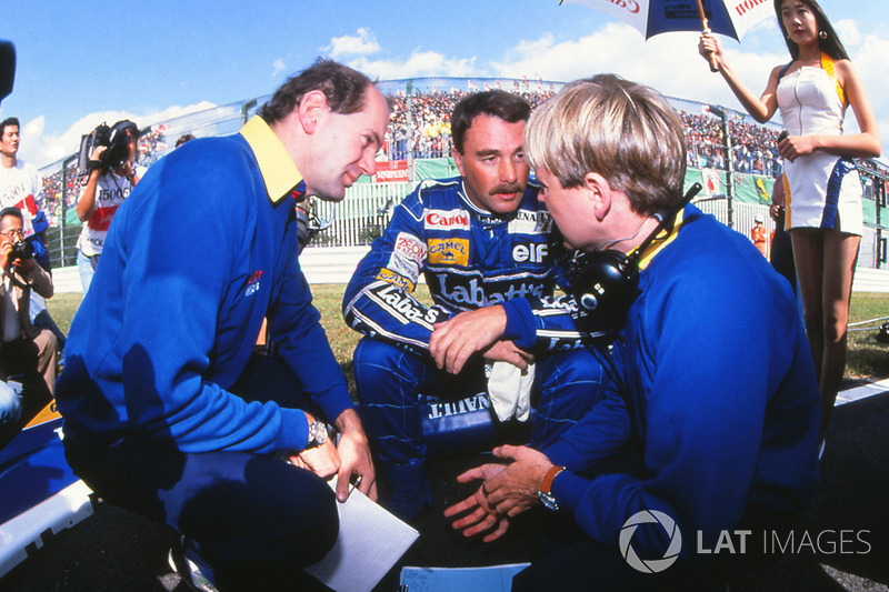 Adrian Newey, Williams F1 Chief Designer, Nigel Mansell, David Brown, Williams Race Engineer